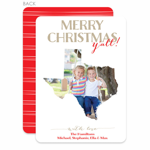 State Love Holiday Photo Card