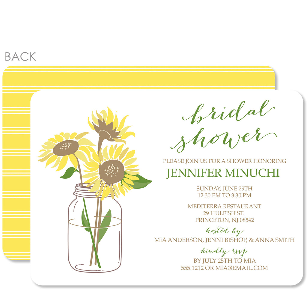 Sunflower bridal shower invitation pipsy sunflower bridal shower invitation filmwisefo Images