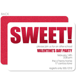 Sweet! Valentine's Day Invitation, PIPSY.COM