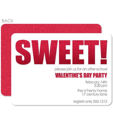 Sweet! Valentine's Day Invitation