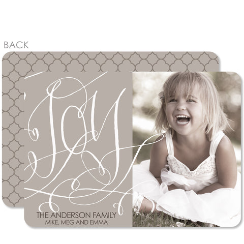 Swirly Holiday Photo Card