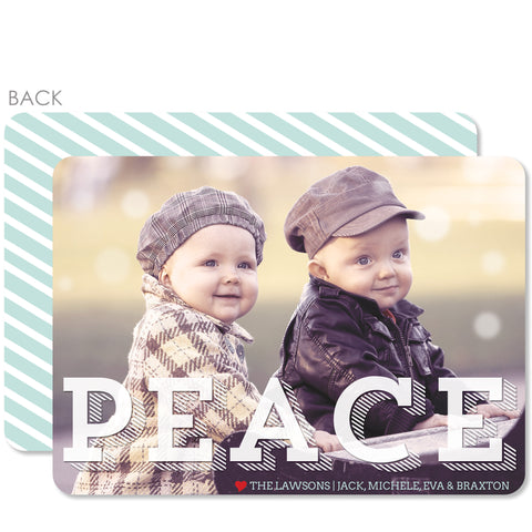 Translucent Holiday Photo Card