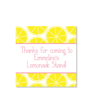 Lemonade Stand Favor Tags