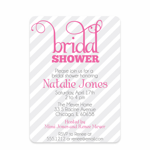 Tickled Pink Bridal Shower Invitation