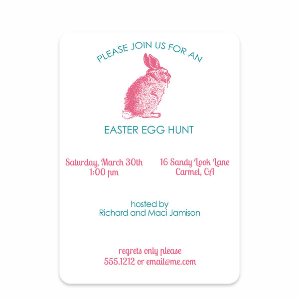 Vintage Bunny Invitation