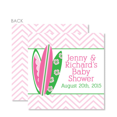 Little Surfer Girl Favor Tags