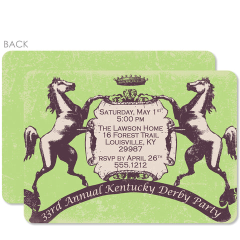 Vintage Kentucky Derby Invitations