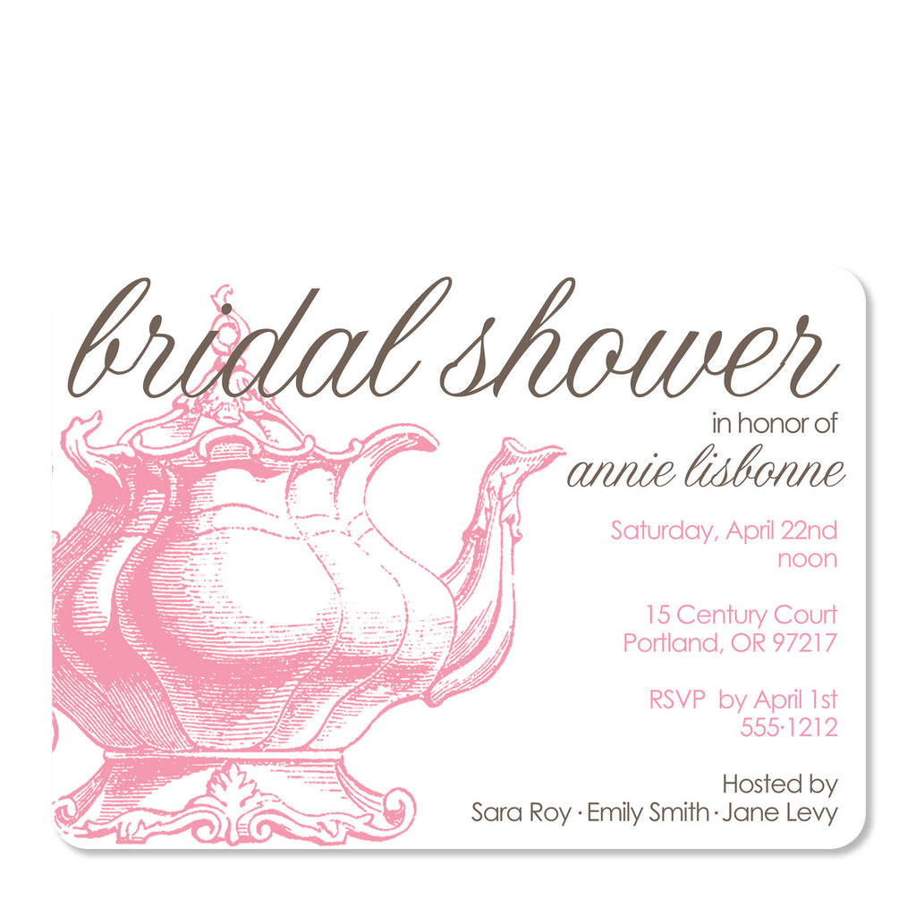 Vintage teapot bridal shower invitation pipsy vintage teapot bridal shower invitation vintage teapot bridal shower invitation filmwisefo