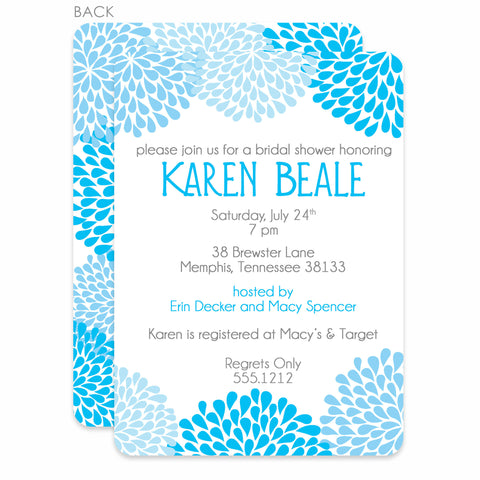 Chrysanthemum Bridal Shower Invitation