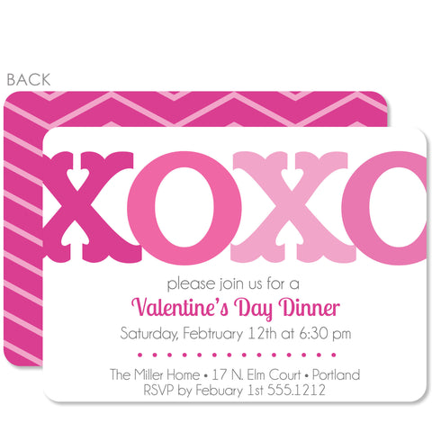 XOXO Valentine's Day Invitation