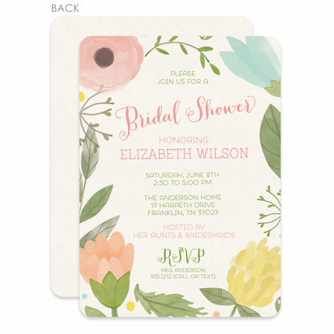 Watercolor Garden Bridal Shower Invitation
