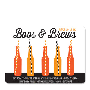 Boos & Brews Halloween Invitation (Printed)