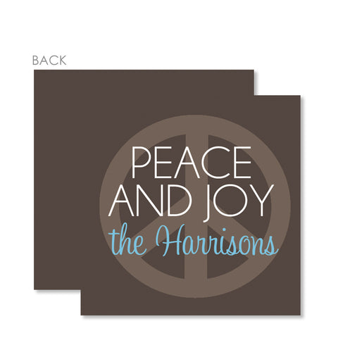 Peace On Earth Holiday Gift Tags