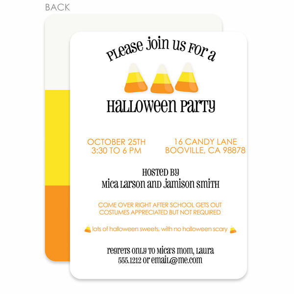 Candy Corn Halloween Invitation (printed) | PIPSY.COM