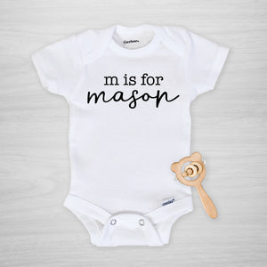 Alphabet name onesie®
