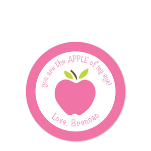 You are the apple of my eye | Class party stickers | PIPSY.COM