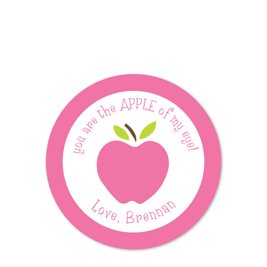 Apple of my eye Valentine Sticker for class party | Pipsy.com