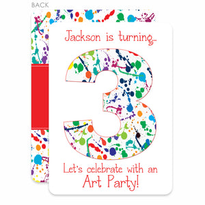 Art Party Birthday Invitation, Boy, Red, PIPSY.COM