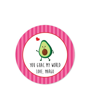 Guacamole | Avocado | Matte Sticker | Party favor