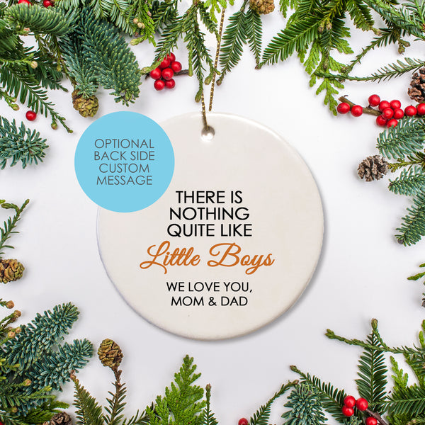 Personalized Message keepsake Ornament round ceramic