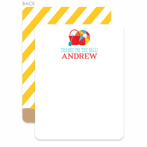 Beach Ball Flat Notecard | Swanky Press