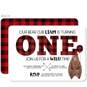Bear Birthday Invitations (Printed)