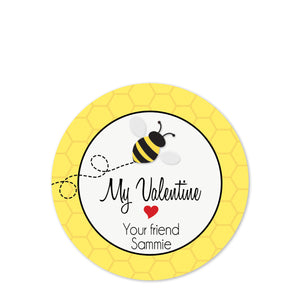 Personalized sticker for treat bags | Valentine's day | PIPSY.COM