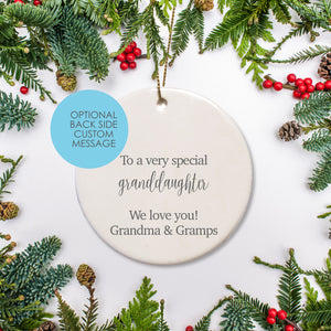 Custom Message | Personalized | Ceramic Ornament