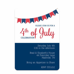Bunting 4th of July Invitation