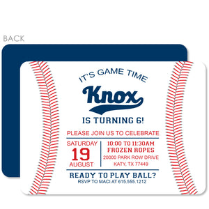 Baseball Birthday Party Invitation (Printed)