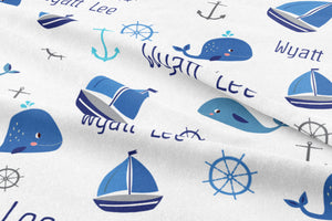 Nautical themed nursery suite personalized