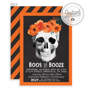 Boos and Booze Halloween Invitation | DIY Instant Download | PIPSY.COM