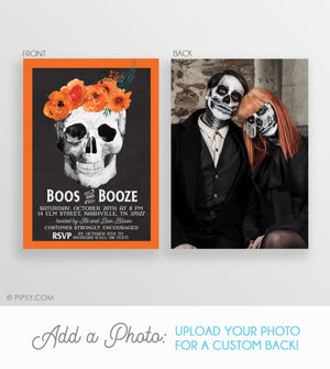 Boos and Booze Halloween Invitation (DIY)