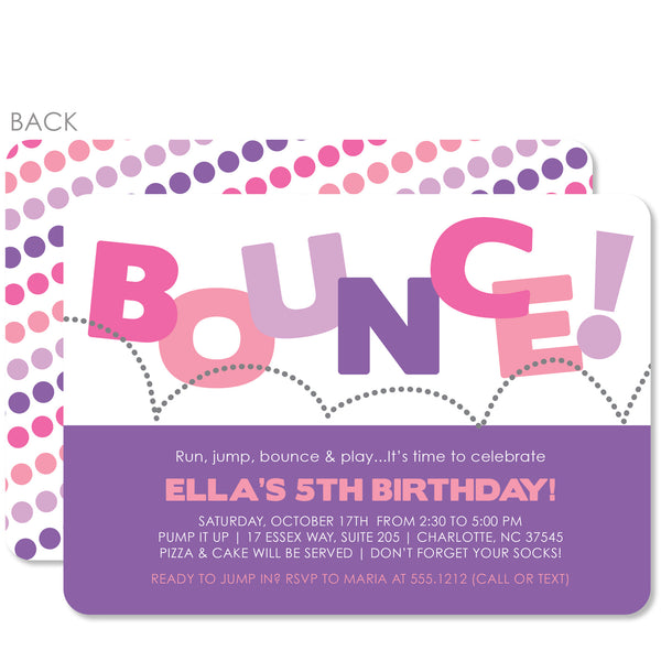 Bounce Birthday Invitation | Swanky Press