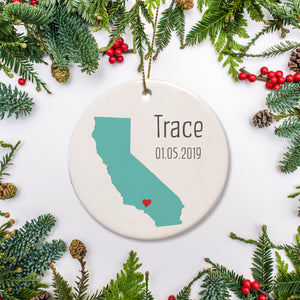 California Simply Modern Keepsake Ornament | Pipsy.com
