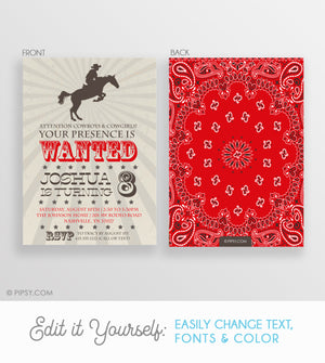 Cowboy Invitations (DIY Printable)