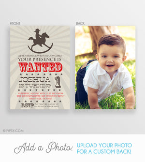 Rocking Horse Cowboy Invitations (DIY Printable)