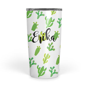 Cactus Stainless Steel Tumbler double walled 20 ounce, pipsy.com