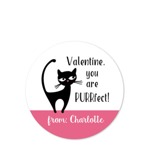 Black Cat | Purrfect kitty | Candy bag sticker | PIPSY.COM