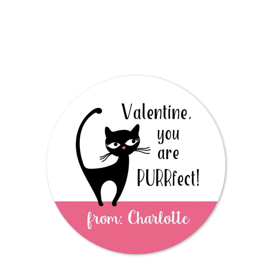 Valentine, you are purrfect! | kitty cat sticker | PIPSY.COM