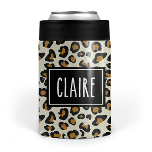 Cheetah print can cooler | Personalized | Pipsy.com