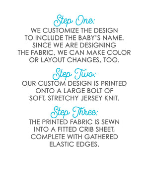 Palm Leaves Personalized Crib Sheet