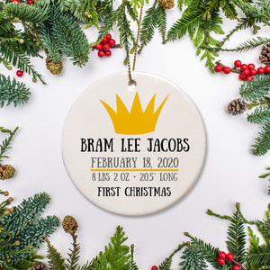 Crown Wild One birth date ornament | Pipsy.com