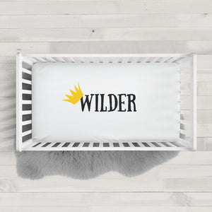 Personalized crown crib sheet | Wild One | Pipsy.com
