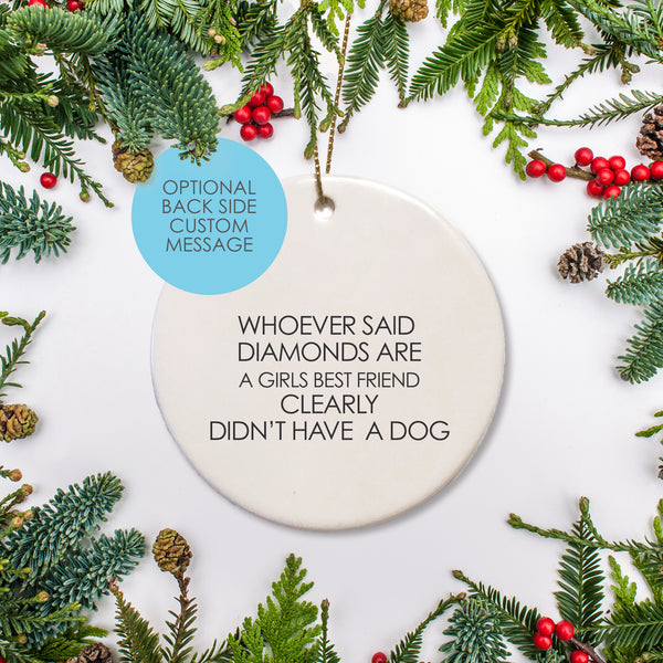 Personalized round ceramic ornament