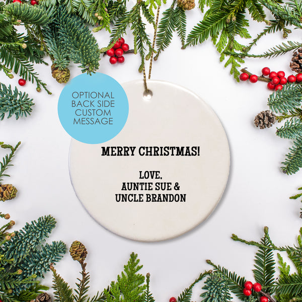 Personalized Ceramic Round Ornament