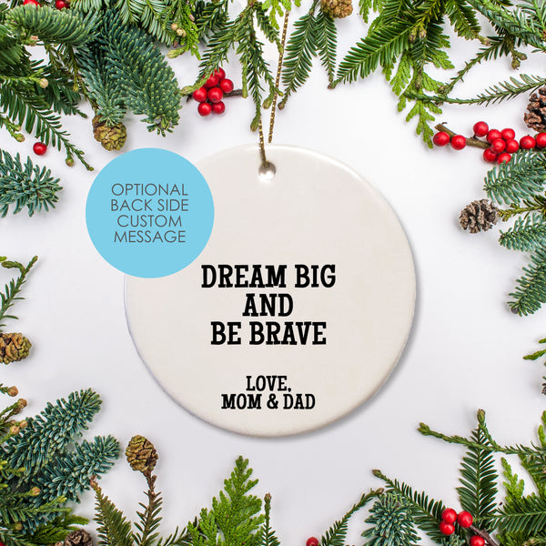 personalized Ceramic Round Ornament - Keepsake