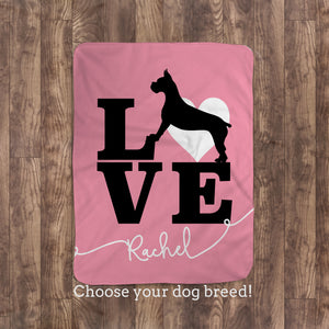 Boxer Love Throw Blanket | Custom personalized blanket | Pipsy.com