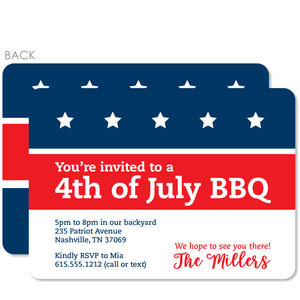 4th of July Invitation, Flag with stars and stripes, PIPSY.COM