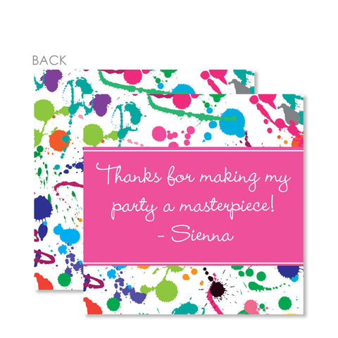Art Splatter Party Cardstock Gift Tag | Swanky Press | Pink